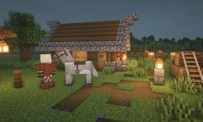 Minecraft Horse Stables | Minecraft Horse Stable Ideas | Patchescrafts