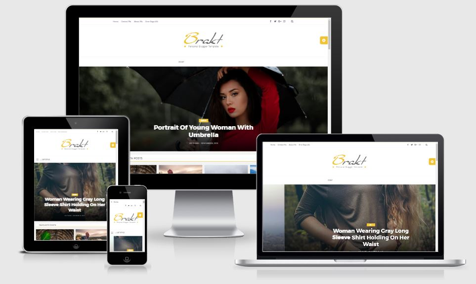 Brakt – Personal Blogger Template v3.0.0 | ThemeForest