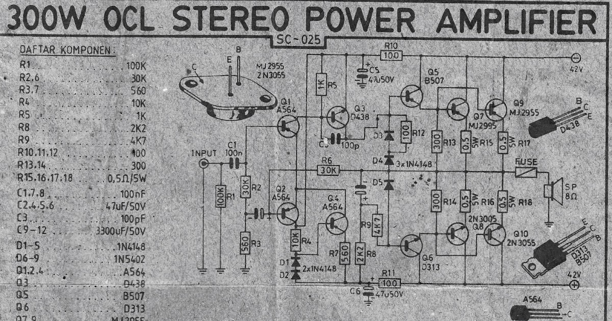 Power Amplifier Can Be Designed A Very Simple Audio Amplifier Circuit