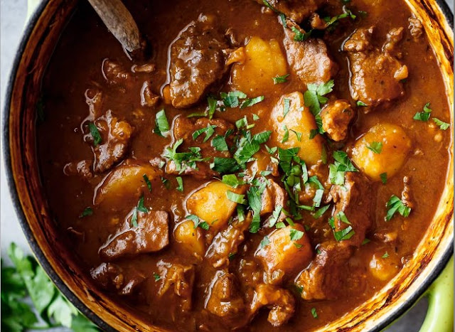 Irish Beef Stew with Guinness and Coffee #dinner #recipes