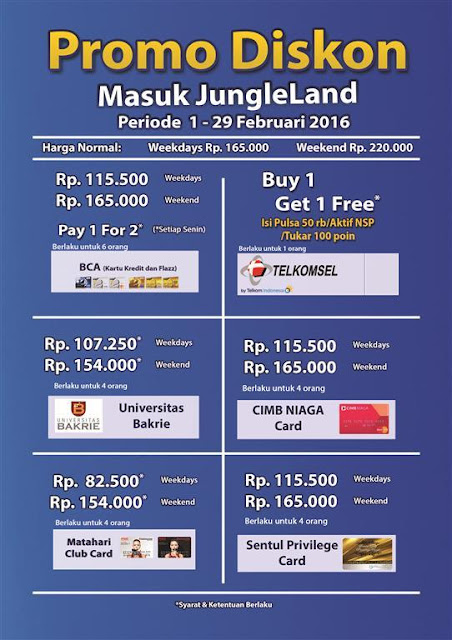 Promo JungleLand Diskon Tiket Masuk Terbaru September 2016 | Antara ...