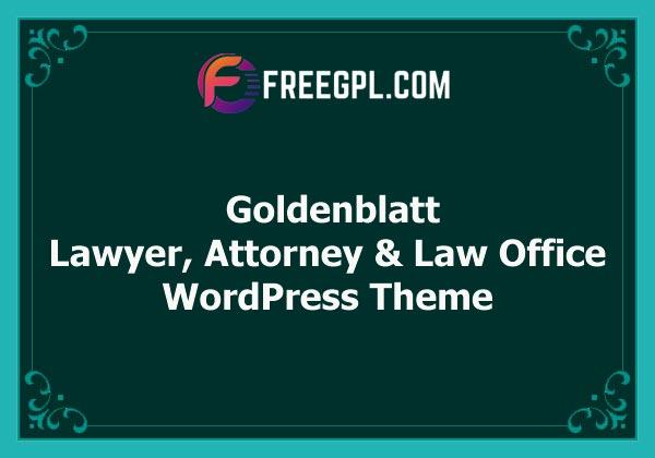 Goldenblatt - Lawyer, Attorney & Law Office WordPress Theme Free Download