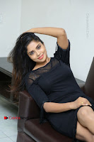 Telugu Actress Karunya Chowdary Latest Stills in Black Short Dress at Edo Prema Lokam Audio Launch .COM 0162.JPG