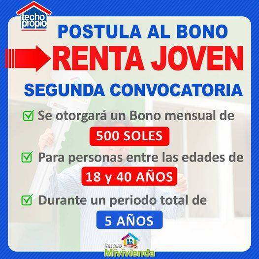 Bono Renta Joven De 500 Soles: 2da Convocatoria En Julio 2021