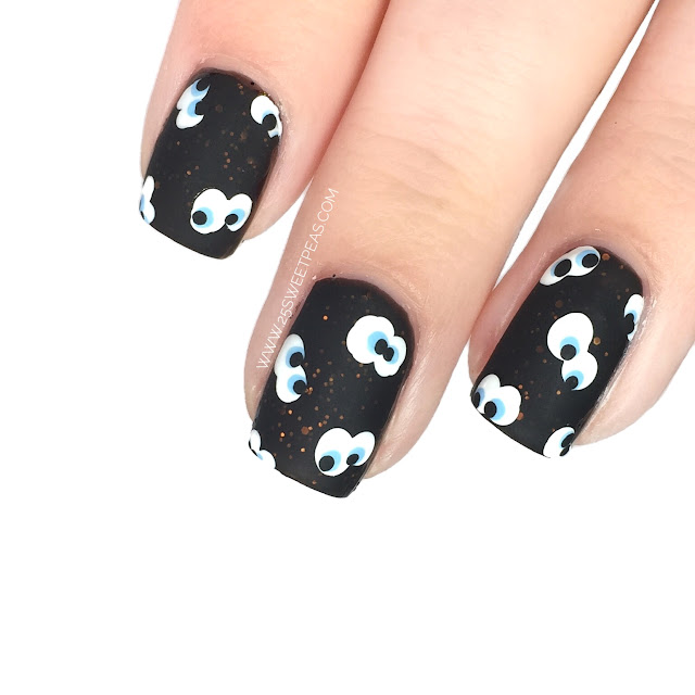 Halloween Eye Nail Art