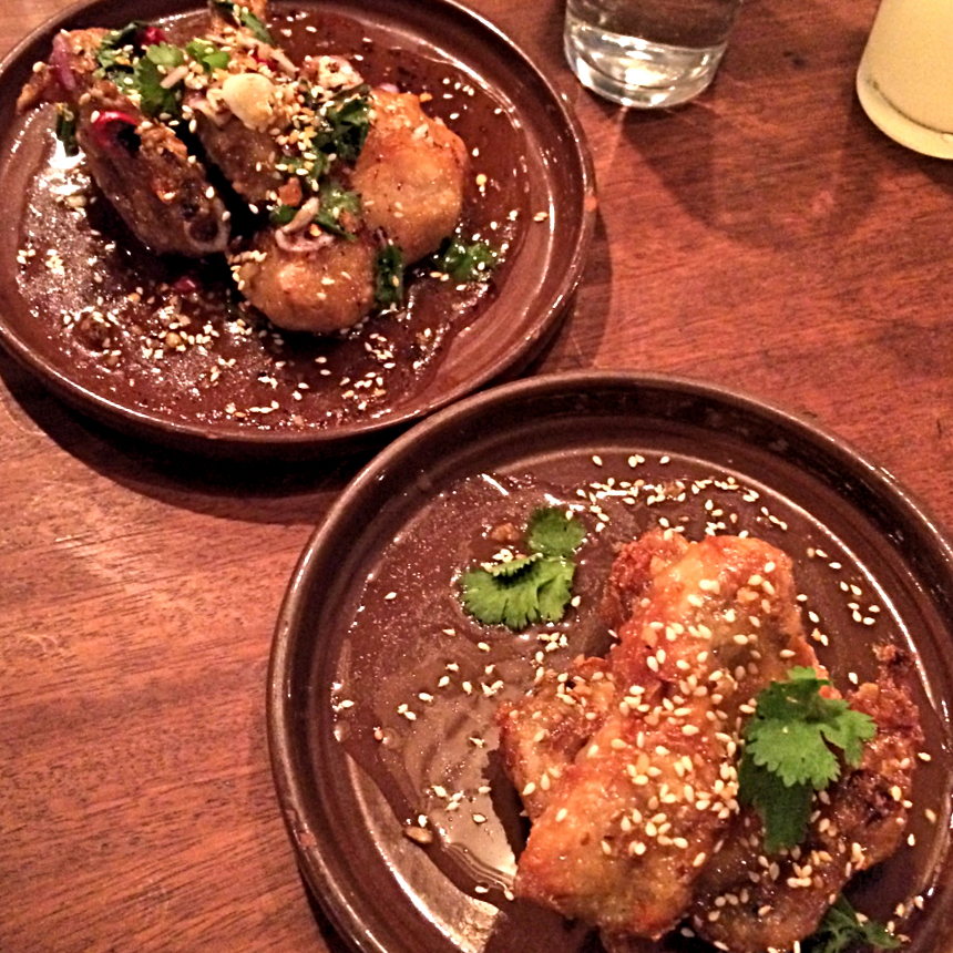 Chicken wings at Smoking Goat, Soho