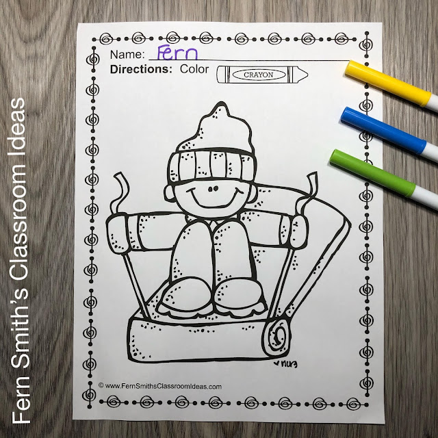 Winter Coloring Pages - 45 Pages of Winter Coloring Fun  #FernSmithsClassroomIdeas