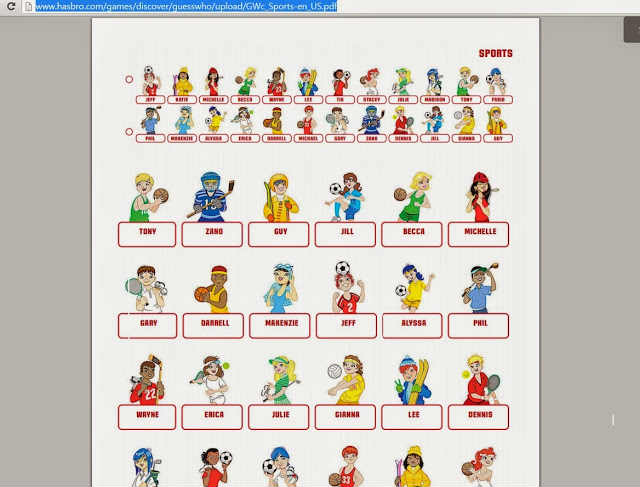 It is a graphic of Guess Who Character Sheets Printable for articulation360