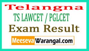 Telangana TS LAWCET / PGLCET Exam Results 2017