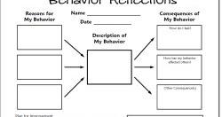 Classroom Freebies: Behavior Reflections Freebie