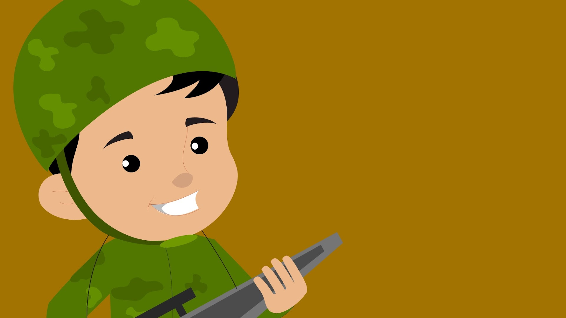 Cartoon Army Man Background for Presentations
