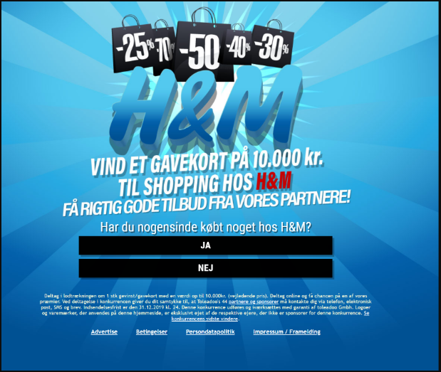 Offer Details - (34505734) Wingame - H&M Voucher ($2.24) (Denmark)