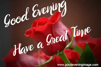 Good Evening Red Rose Flowers images