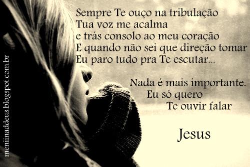 Sei Que Meu Deus Não Me Deixara: Meníína De Deus: Fala Comigo, Fala Senhor