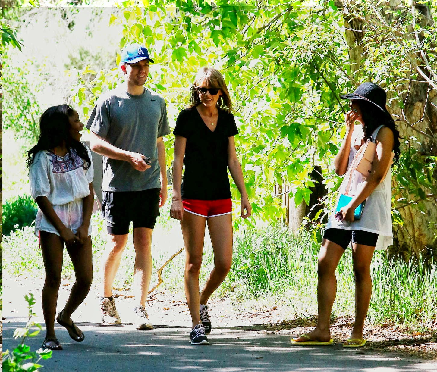 Taylor Swift hiking in Malibu
