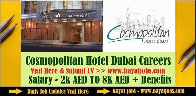 Cosmopolitan Hotel Dubai Careers Updated 2019 | All Departments
