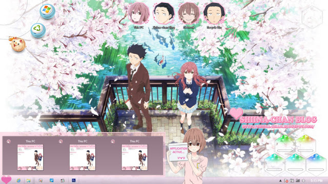 Windows 8/8.1 Theme Koe no Katachi by Enji Riz