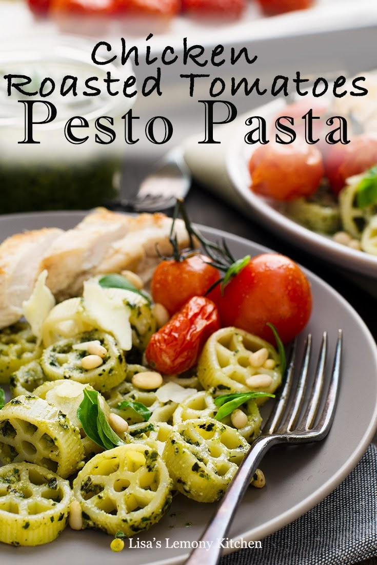 Chicken basil pesto pasta salad makes a comforting and tasty dinner.  A fresh satisfying summer salad bursting with flavour. One of the best pesto pasta recipes, and it is easy to whip up on a busy weekday.