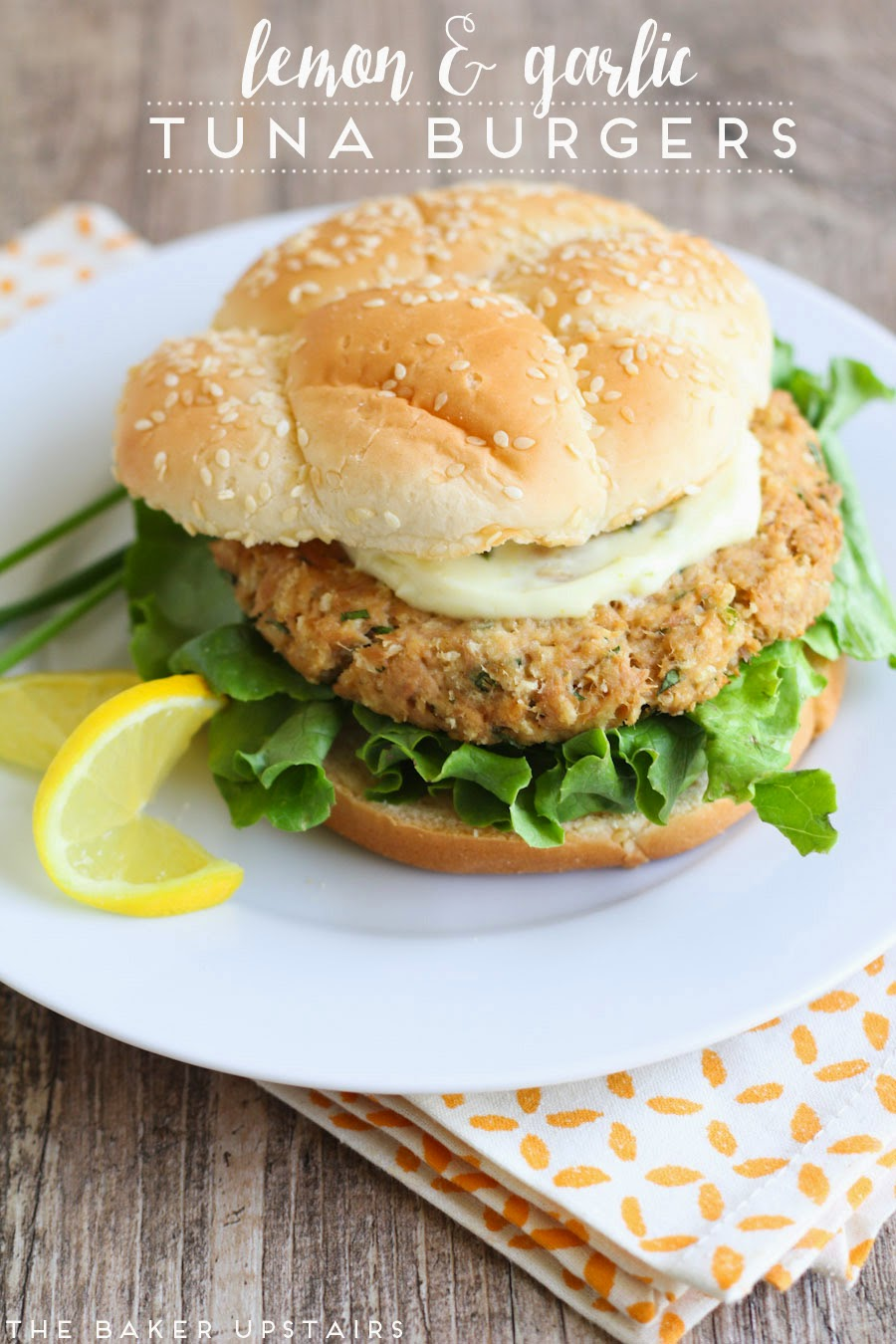 Lemon and garlic tuna burgers - so quick, healthy, and delicious!