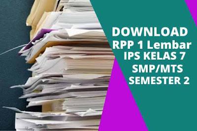 Download RPP 1 Lembar IPS Kelas 7 Semester 2 Revisi 2020 Lengkap