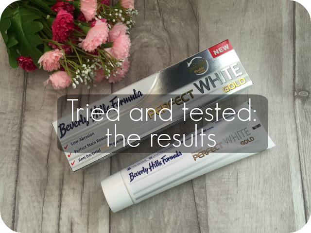 beverly hills formula perfect white gold toothpaste results