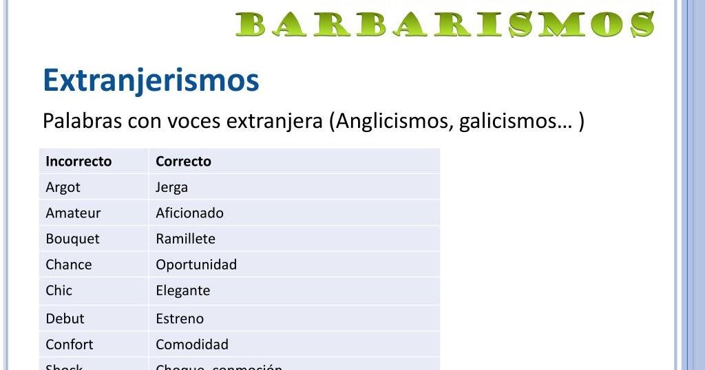 GALICISMOS, ANGLICISMOS, ITALIANISMOS Y GERMANISMOS | ETIMOBLOG