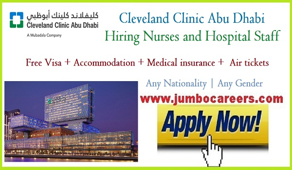 Latest Abu Dhabi hospital jobs for Indians, Urgent Abu Dhabi jobs with benefits,