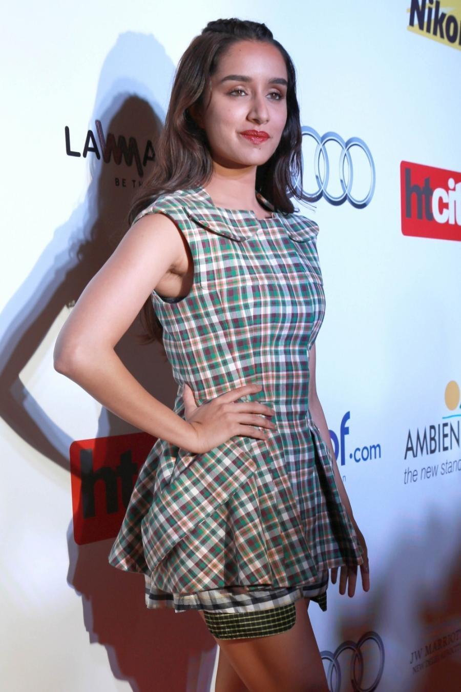 Movie Actress Shraddha Kapoor Sleeveless In Green Dress