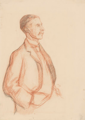 A.E. Housman  by William Rothenstein sanguine and black chalk, 1906 NPG 3873 © National Portrait Gallery, London