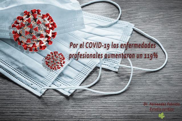 Coronavirus en el trabajo: Las enfermedades profesionales aumentaron un 119%
