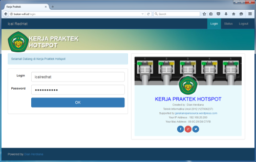 Responsive Login Page Mikrotik SMK