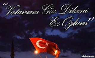 aziz, bayrak, can, candan aziz, esat kabaklı, ez oğlum sözleri, göz dikmek, özge, rabia işareti, resimli sözler, tek bayrak, tek devlet, tek millet, tek vatan, vatan, vatan aşkı,