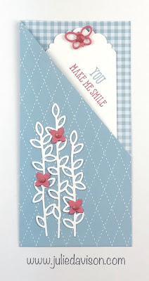 Stampin' Up! In Color Well Written Tag Pocket Card ~ www.juliedavison.com