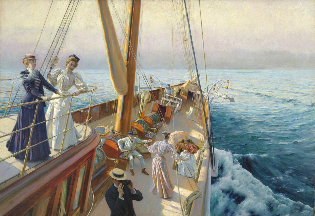 Julius Le lanc Stewart Yachting in the Mediterranean  Virginia Museum of Fine Arts