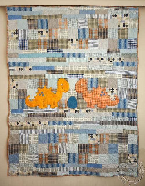 dinosaur quilt, kids patchwork quilt