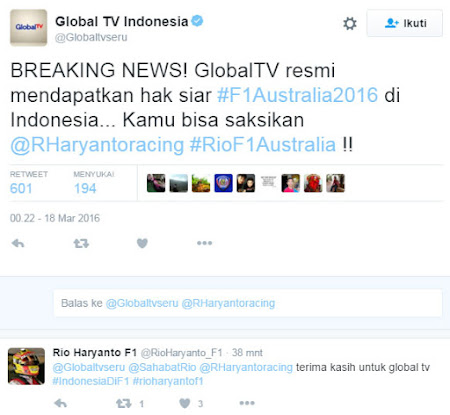 pemegang hak siar f1 2016 di indonesia