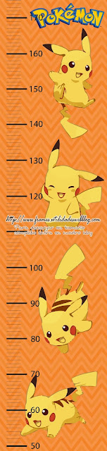 Medidor de altura de pikachu listo para imprimir