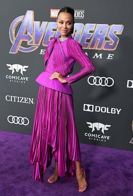 Zoe Saldana Wears Givenchy