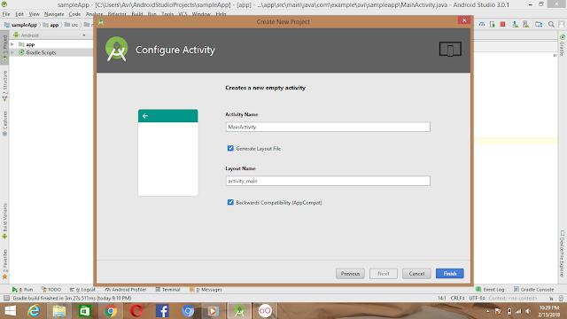 Configure Activity