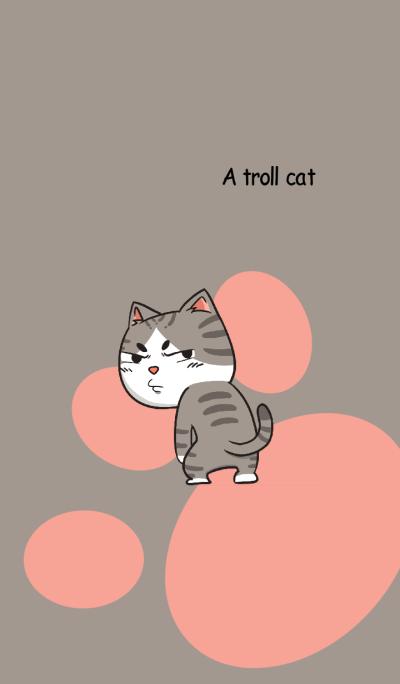 A troll cat.