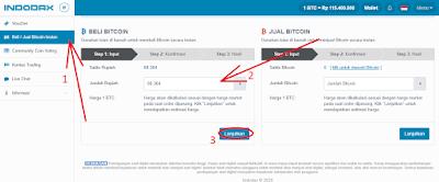 masukkan jumlah rupiah untuk beli bitcoin