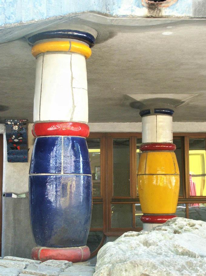 Architettura moderna a Vienna con una goccia di colore