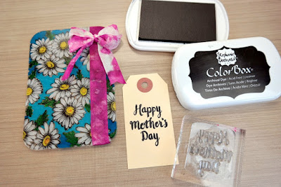 Dye Ink Stamped Happy Mother's Day Tag by Dana Tatar
