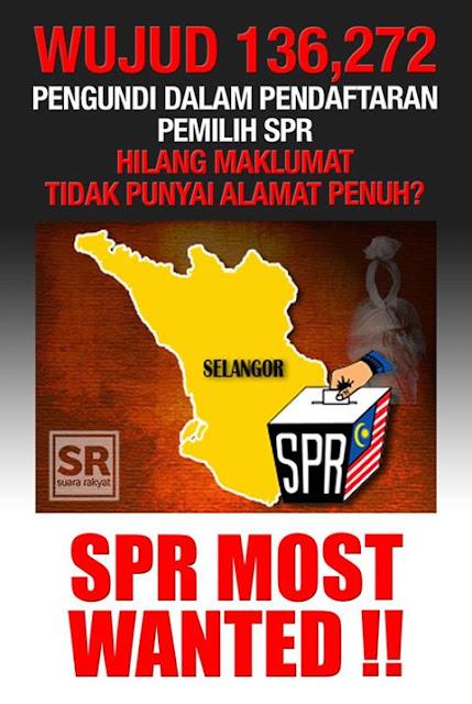 136272 Pengundi Selangor Hilang