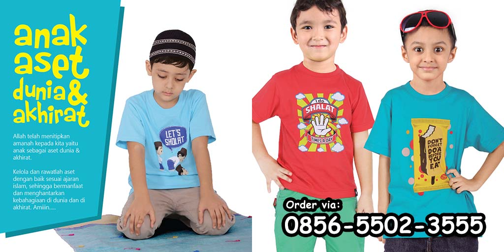 Baju Muslim Anak, Kaos Anak Afrakids, Agen Baju Afrakids