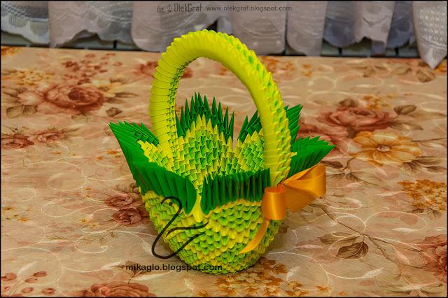 409. Koszyczek na ostatnią chwilę / 3d origami basket