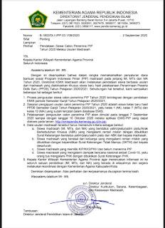 Surat Edaran Pendataan Siswa Calon Penerima PIP (Program Indonesia Pintar) Tahun 2020
