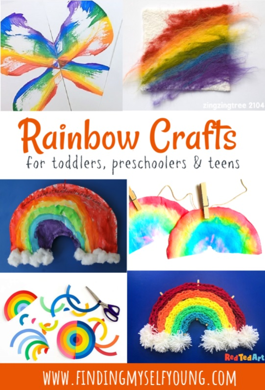25 rainbow crafts for kids of all ages