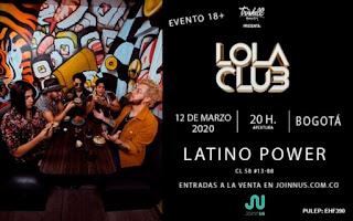 Concierto de LOLA CLUB en Colombia