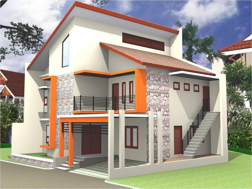 Desain rumah modern ekterior unik
